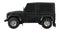 Rastar Land Rover Defender (Black) 1/24 Scale RC Model Left Side View