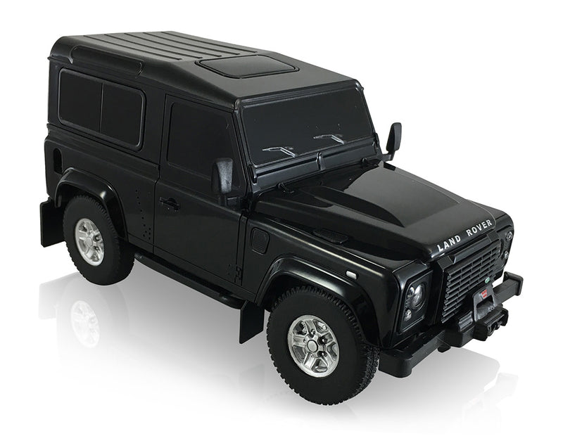 Rastar Land Rover Defender (Black) 1/24 Scale RC Model Right Front View