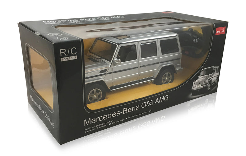 Mercedes-Benz G Class G55 AMG  (Silver) 1/14 Scale Radio Controlled Model Car  By Rastar