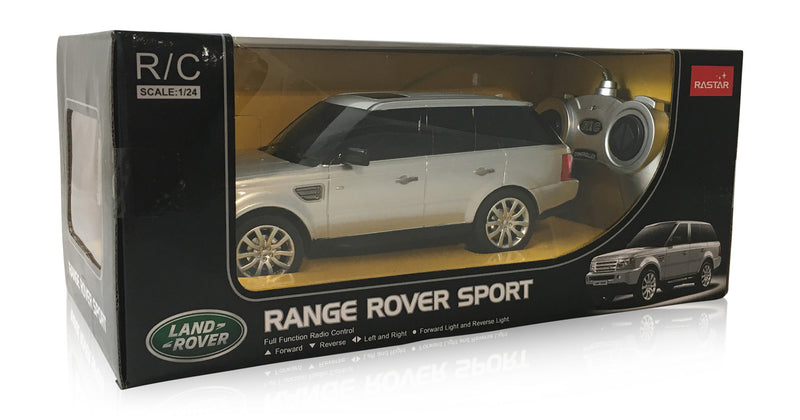 Land Rover Range Rover Sport (Silver) 1/24 Scale Radio Controlled Model Car