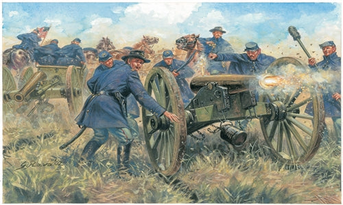 American Civil War Union Artillery, 1/72 Scale Plastic Figures Kit Box Art