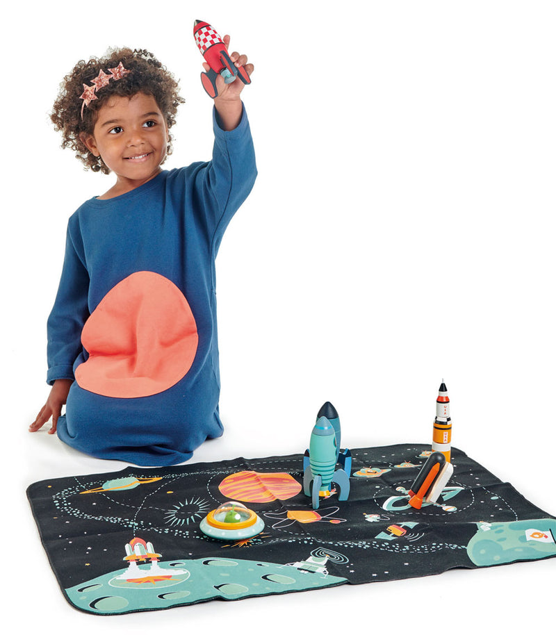 Rocket Construction Play Set With Playmat