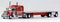 Trucks N Stuff Kenworth W-900L Truck (Viper Red) with 48ft Spread Axle Trailer