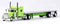 Trucks N Stuff Peterbilt 389 Lime Green W/ 48ft Trailer 1/87 Scale
