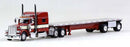 Trucks N Stuff Peterbilt 389 (Red) w 48ft Spread Axle !/87 Scale Model