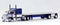 Tucks N Stuff Peterbilt 389 with 48ft Spread Axle Flatbed Traller