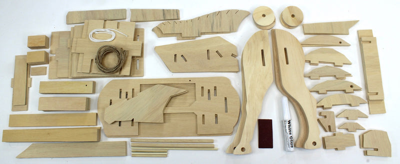 Trojan Horse Wooden Kit Box Contents