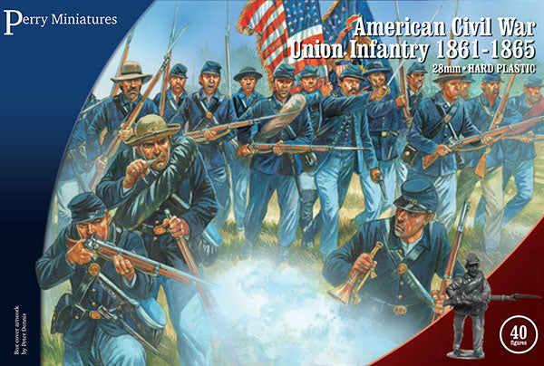 American Civil War Union Infantry 1861-1865 (28 mm) Scale Model Plastic Figures By Perry Miniatures