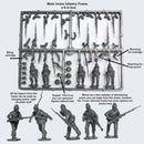 American Civil War Union Infantry 1861-1865 (28 mm) Scale Model Plastic Figures Infantry Frame