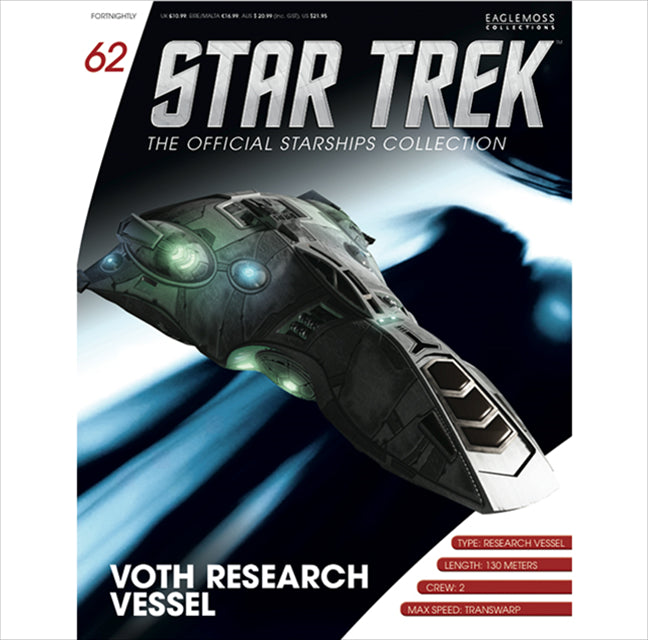 Star Trek Starships Collection Issue 62 Voth Research Vessel Diecast Model By Eaglemoss