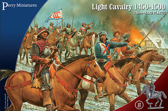 Light Cavalry 1450 -1500 (28 mm) Scale Model Plastic Figures By Perry Miniatures