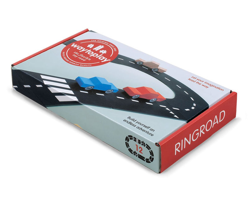 Ringroad 12 Piece Flexible Toy Road Set By Waytoplay Toys