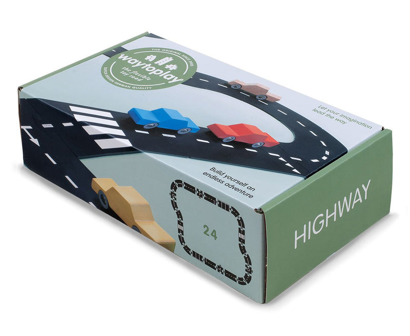 Highway 24 Piece Flexible Toy Road Set By Waytoplay Toys