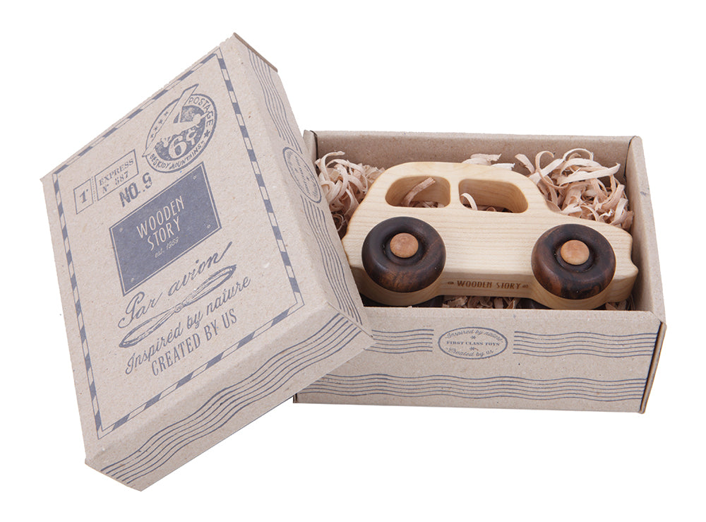 Wooden Story Little French Car In Box