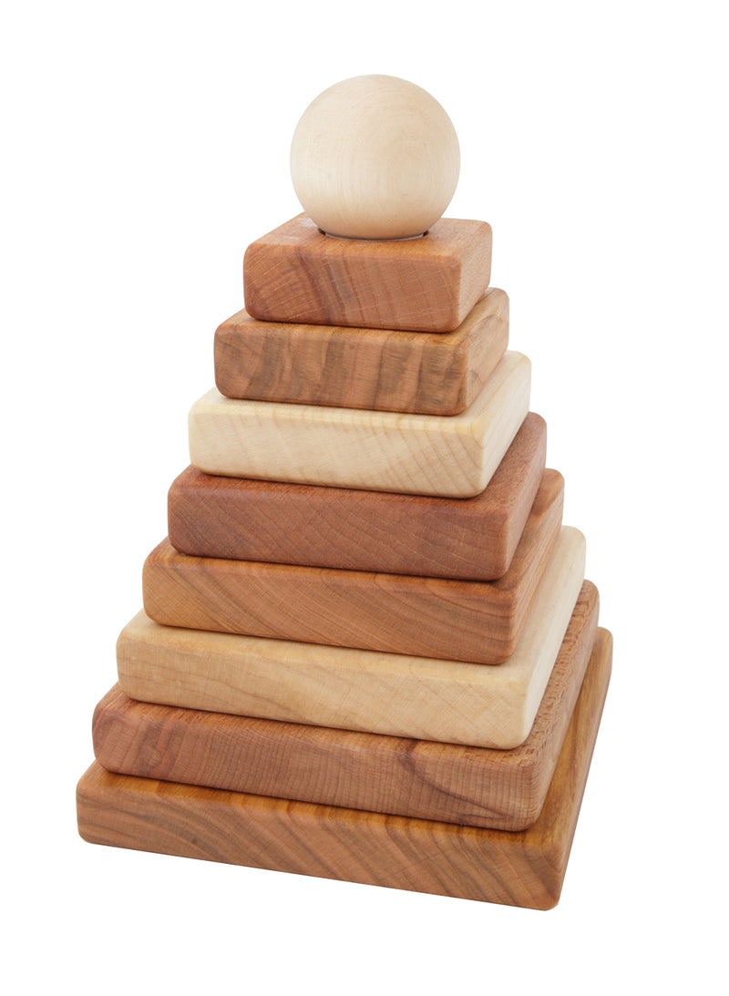 Wooden Story Natural Pyramid Stacker