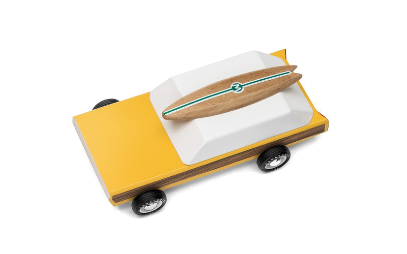 Woodie Wooden Car By Candylab Toys Top View