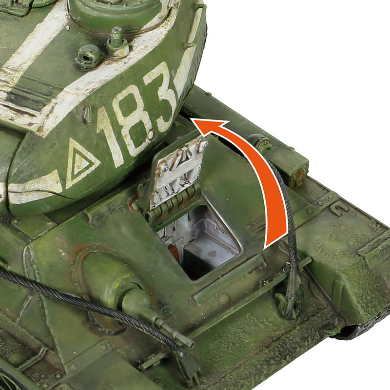 T-34-85 Medium Tank, Soviet 95th Tank Brigade 1945, 1/32 Scale Model By Forces Of Valor  Hatch Detail