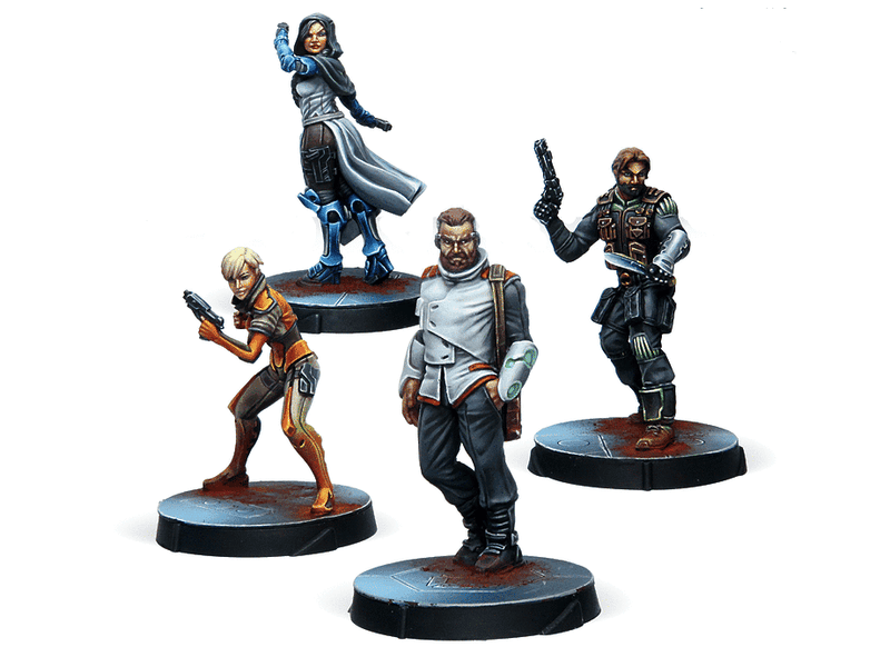 Infinity Agents Of The Human Sphere Characters Set Miniature Game Figures