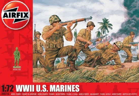 US Marines WWII 1:72 Scale Figures By Airfix
