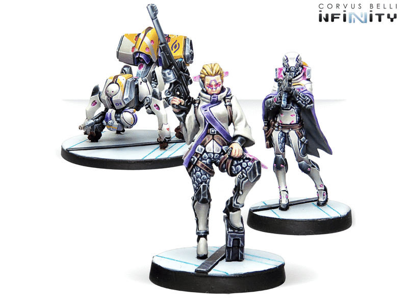 Beyond Coldfront Infinity Miniature Game Figure Set ALEPH Contingent