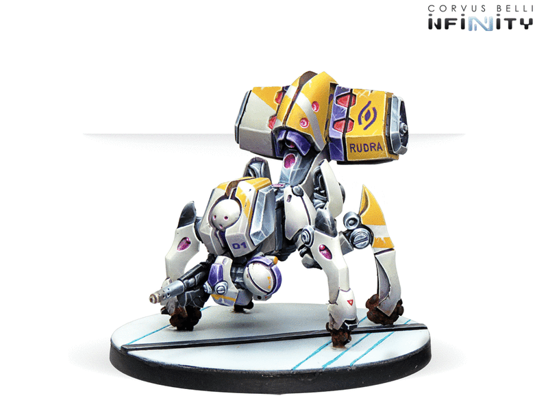 Beyond Coldfront Infinity Miniature Game Figure Set Rudras GunBot