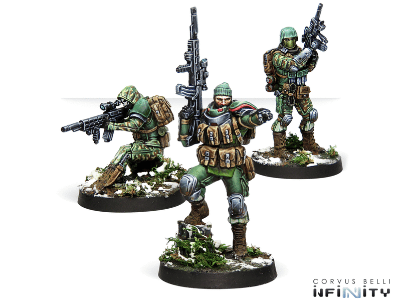 Beyond Coldfront Infinity Miniature Game Figure Set Aridnan Contingent