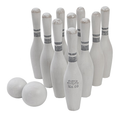 Vintage Wooden Bowling Pin Set – 10 pcs By Wooden Story