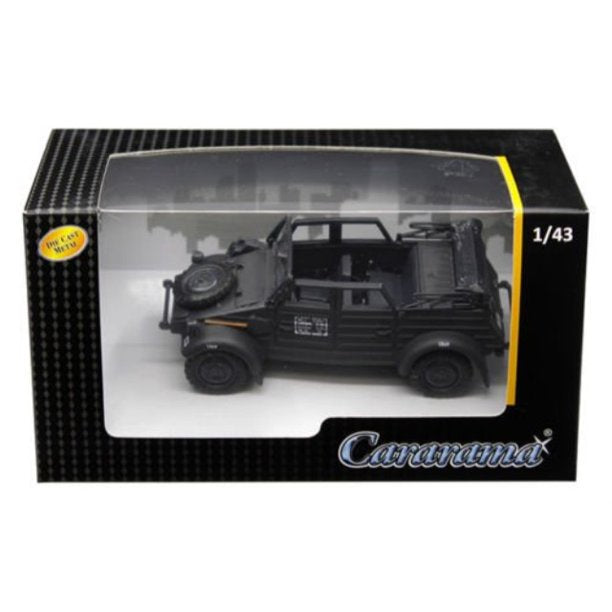 Volkswagen Kübelwagen K Type 82 Convertible (Black) 1:43 Scale Model By Cararama