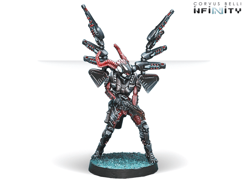 Infinity Combined Army Starter Pack Miniature Game Figures Fraccta, Trihedron Drop Unit Combi Rifle