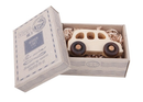 English Taxi Natural Colored Wood Toy Car In Decorative Box