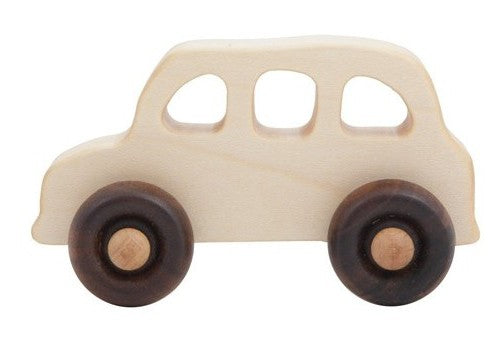 English Taxi Natural Colored Wood Toy Car By Wooden Story