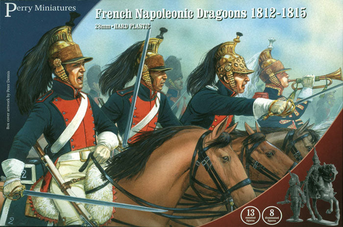 Napoleonic French Dragoons 1812 -1815, 28 mm Scale Model Plastic Figures By Perry Miniatures
