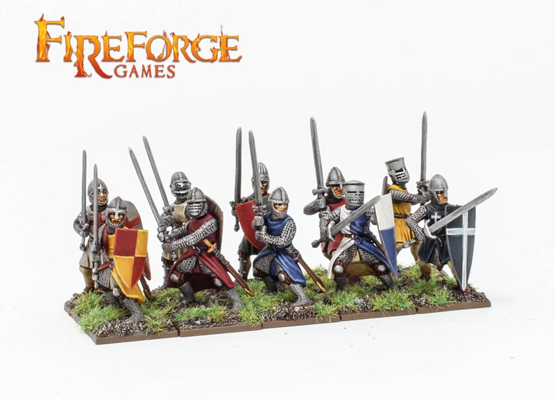 Foot Knights 11th – 13th Century, 28mm Model Figures By Fireforge Games