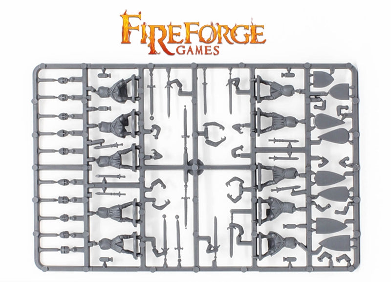 Foot Knights 11th – 13th Century, 28mm Model Figures By Fireforge Games Sprue