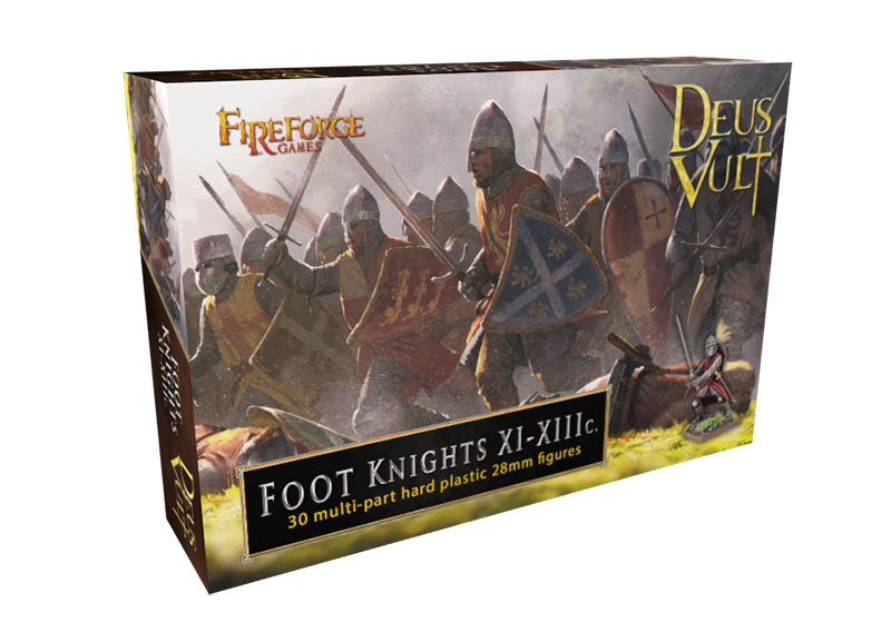 Foot Knights 11th – 13th Century, 28mm Model Figures By Fireforge Games Box