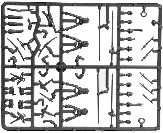 Light Cavalry 1450 -1500 (28 mm) Scale Model Plastic Figures Sample Sprue
