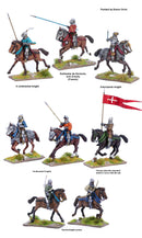Agincourt Mounted Knights 1415-1429, 28 mm Model Plastic Figures Kit Painted Examples