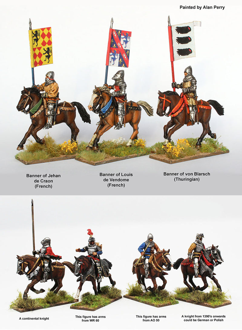 Agincourt Mounted Knights 1415-1429, 28 mm Model Plastic Figures Kit Allan Perry Exmaples