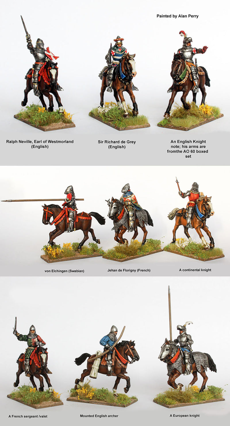 Agincourt Mounted Knights 1415-1429, 28 mm Model Plastic Figures Kit Additional Alan Perry Exmaples