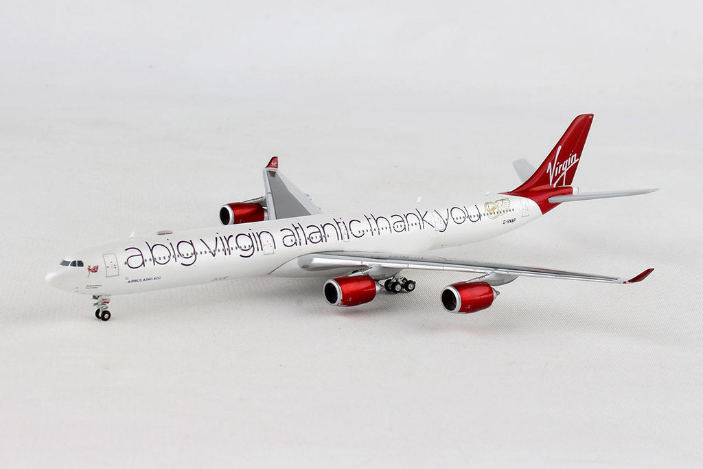 Airbus A340-600 Virgin Atlantic (G-VNAP) 1:400 Scale Model By Gemini Jets Left Front View