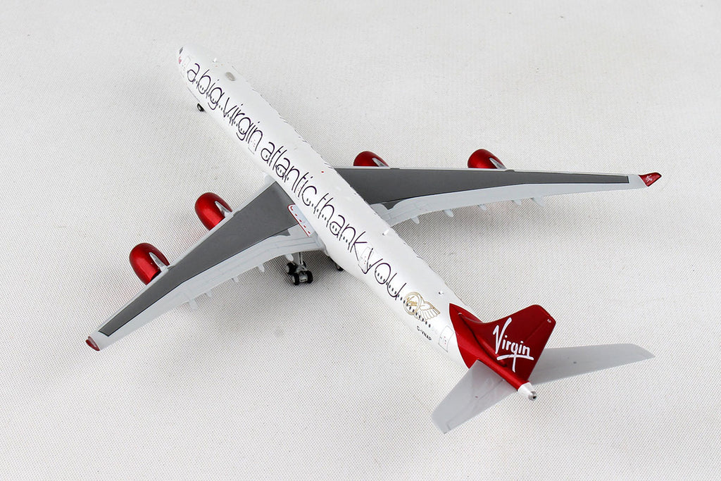 Airbus A340-600 Virgin Atlantic (G-VNAP) 1:400 Scale Model By Gemini Jets Left Rear View
