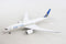 Boeing 787-8 United (N27908) 1:400 Scale Model By Gemini Jets Left Front View