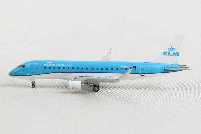 Embraer ERJ-175 KLM Royal Dutch Airlines (PH-EXU) 1:400 Scale Model Left Side View