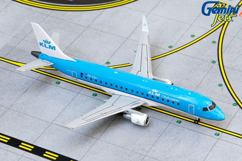Embraer ERJ-175 KLM Royal Dutch Airlines (PH-EXU) 1:400 Scale Model By Gemini Jets