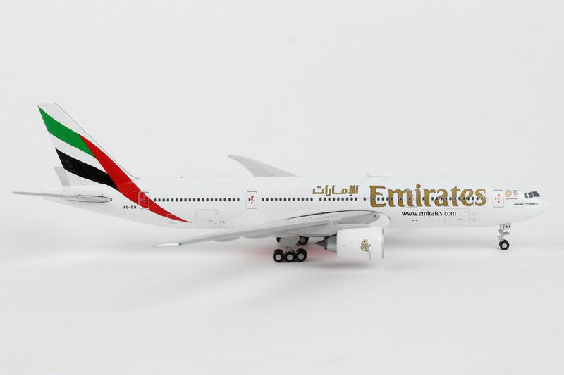 Boeing 777-200LR  Emirates (Expo 2020 Livery) 1:400 Scale Model Right Side View