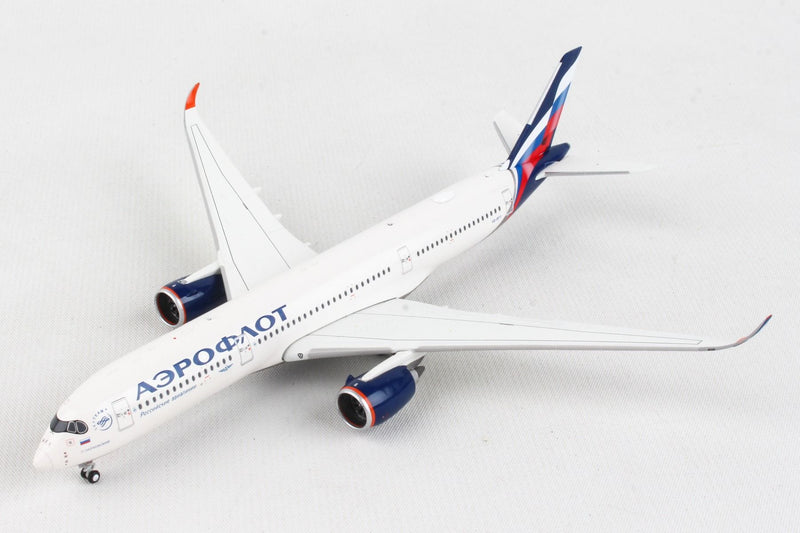 Airbus A350-900 Aeroflot (VQ-BFY) 1:400 Scale Model Front Quarter View