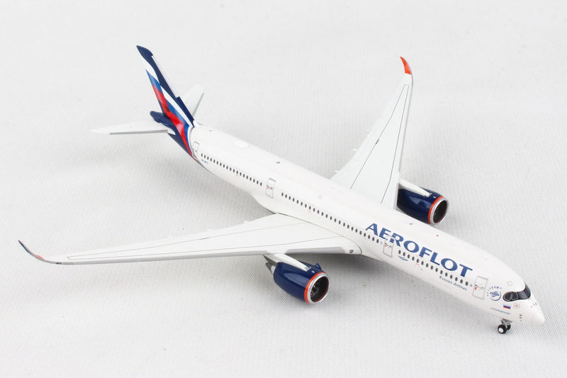 Airbus A350-900 Aeroflot (VQ-BFY) 1:400 Scale Model Right Front Quarter View