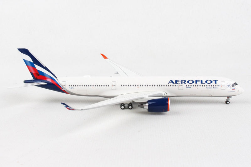 Airbus A350-900 Aeroflot (VQ-BFY) 1:400 Scale Model Right Side View