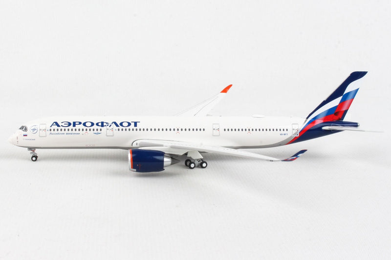 Airbus A350-900 Aeroflot (VQ-BFY) 1:400 Scale Model Left Side View