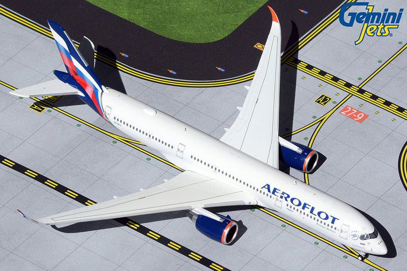Airbus A350-900 Aeroflot (VQ-BFY) 1:400 Scale Model By Gemini Jets